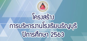 การบริหารงานโรงเรียนธัญบุรี ปีการศึกษา 2563