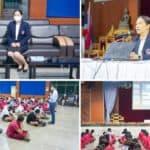 ผู้อำนวยการชฎาพร  เธียรศิริพิพัฒน์ และคณะครู พบนักเรียนระดับชั้นมัธยมศึกษาปีที่ 3 (กลุ่ม 1)